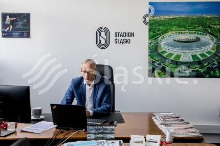 Sport w nowej rzeczywistosci - panel w ramach Europejskiego Kongresu Gospodarczego online. N/z Jan Widera - prezes zarzadu Stadionu Sl.