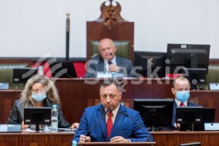 37 sesja Sejmiku Woj. Slaskiego. N/z radny Jaroslaw Szczesny.