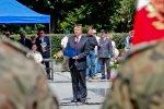 Obchody Swieta Wojska Polskiego w wojewodztwie slaskim - 2011. N/z wicemarszalek woj. Mariusz Kleszczewski