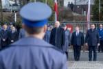 Slubowanie nowych policjantow. N/z Joachim Brudzinski, minster Spraw Wewnetrznych i Administracji.