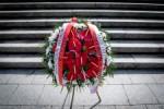 Obchody 75 rocznicy zakonczenia II wojny swiatowej pod Pomnikiem Zolnierza Polskiego w Katowicach.