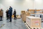 Wizyta marszalka Jakuba Chelstowskiego na przebudowie terminalu B lotniska Katowice-Pyrzowice. N/z wizyta w terminalu CARGO.